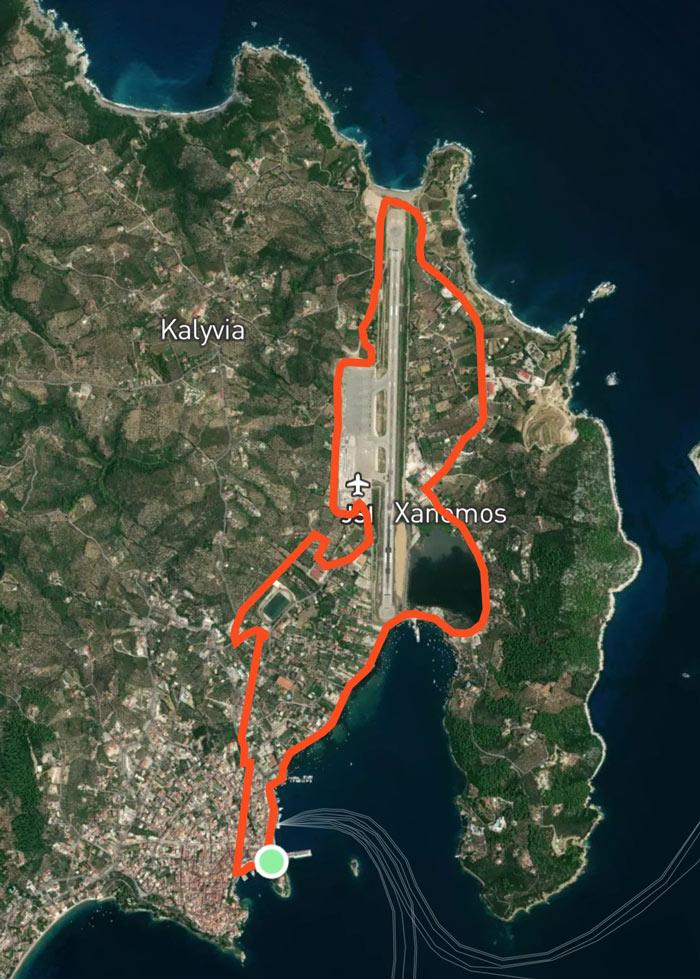 Skiathos Run 10km Route Map